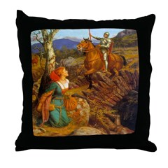 Knight to the Rescue Throw Pillow