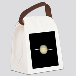 Saturn 4 Moons in Transit Canvas Lunch Bag