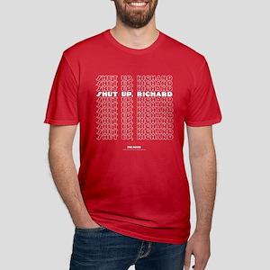 Shut Up Men's Fitted T-Shirt (dark)