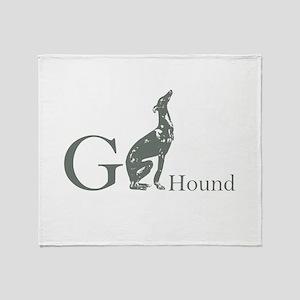 Greyhound Throw Blanket