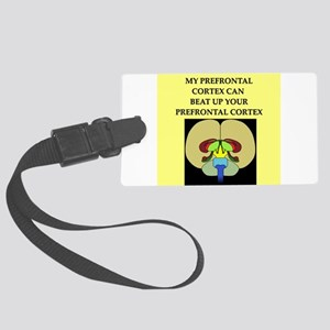 smart brain joke gifts apparel Large Luggage Tag