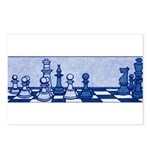 Chess: Study in Blue Postcards (Package of 8)