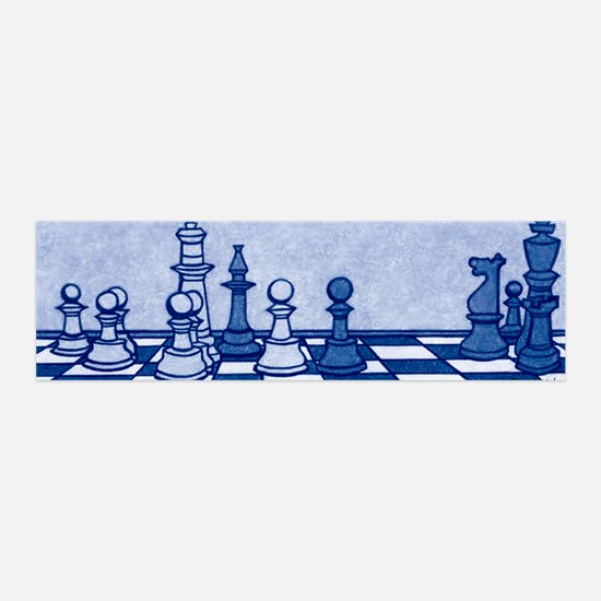 Chess: Study in Blue Wall Decal