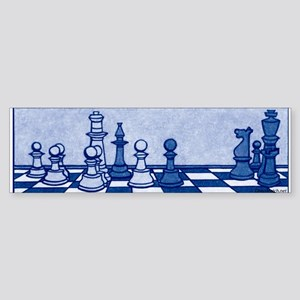 Chess: Study in Blue Sticker (Bumper)