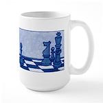 Chess: Study in Blue Large Mug