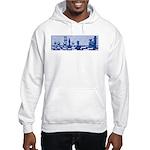 Chess: Study in Blue Hooded Sweatshirt