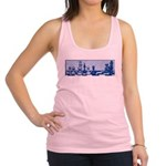 Chess: Study in Blue Racerback Tank Top