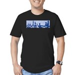 Chess: Study in Blue Men's Fitted T-Shirt (dark)