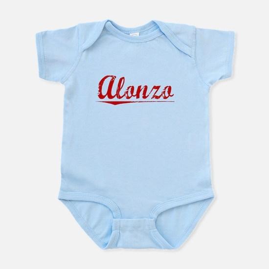 Alonzo, Vintage Red Infant Bodysuit