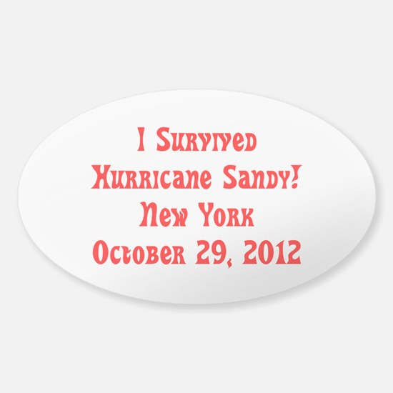 I Survived Hurricane Sandy New York Oval Stickers