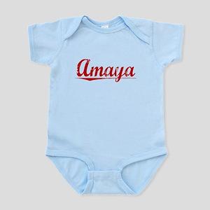 Amaya, Vintage Red Infant Bodysuit