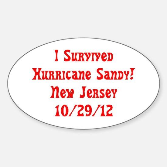 I Survived Hurricane Sandy NJ 10-29-12 Decal