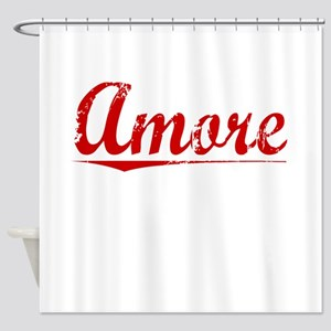 Amore, Vintage Red Shower Curtain