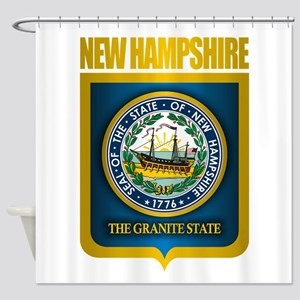 New Hampshire Seal (back) Shower Curtain
