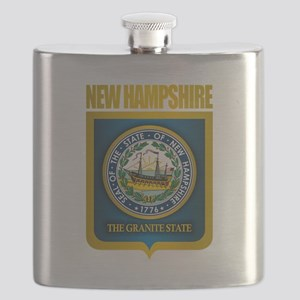 New Hampshire Seal (back) Flask