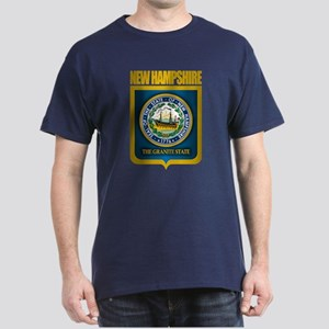 New Hampshire Seal (back) Dark T-Shirt