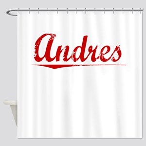 Andres, Vintage Red Shower Curtain