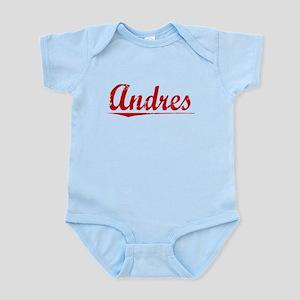 Andres, Vintage Red Infant Bodysuit