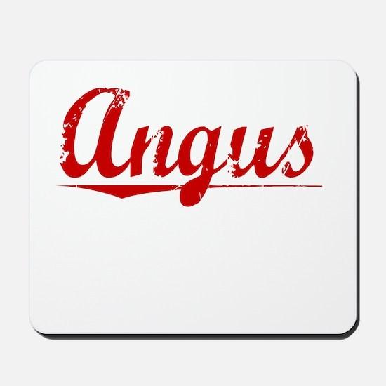 Angus, Vintage Red Mousepad