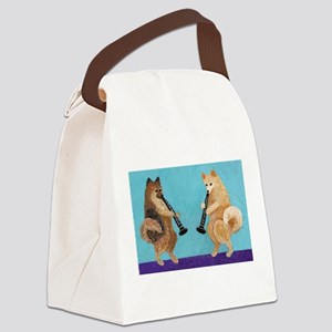 Pomeranian Clarinet Duo Canvas Lunch Bag