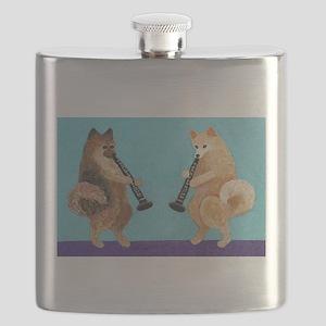 Pomeranian Clarinet Duo Flask