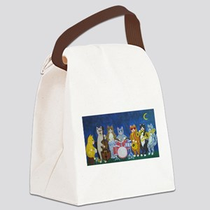Salsa Cats at Night Canvas Lunch Bag