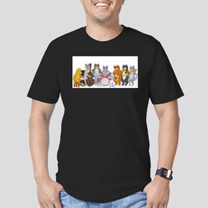 salsacatband -Final-Cafepress Men's Fitted T-S