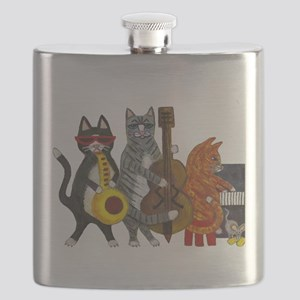 JazzCatsCut-out for Zazzle_FINAL Flask