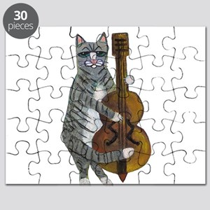 Tabby Cat cello player Puzzle