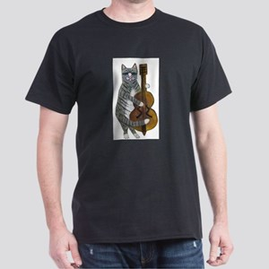 Tabby Cat cello player Dark T-Shirt