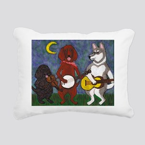 Country Dogs Rectangular Canvas Pillow