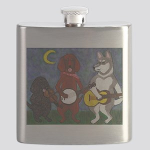 Country Dogs Flask