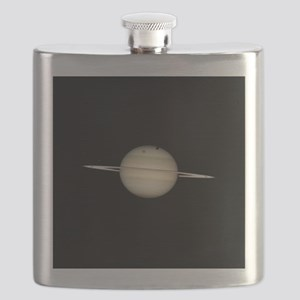 Saturn 4 Moons in Transit Flask