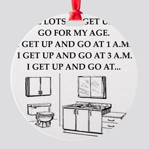 old age gifts,t-shirts Round Ornament