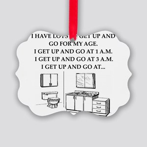 old age gifts,t-shirts Picture Ornament