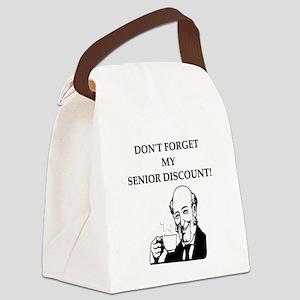funny senior citizen discount joke Canvas Lunch Ba