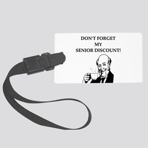 funny senior citizen discount joke Large Luggage T