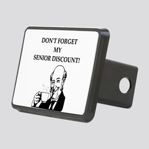 funny senior citizen discount joke Rectangular Hit