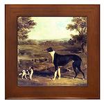 Framed Greyhound Tile