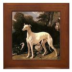 Greyhound Framed Tile