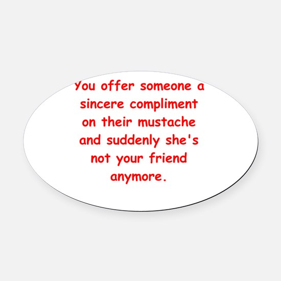 SILLY Oval Car Magnet