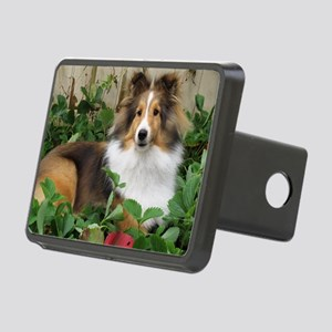 Strawberry Patch Rectangular Hitch Cover
