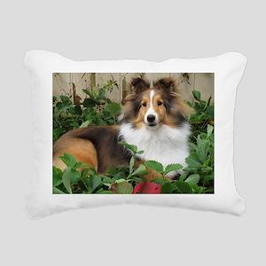 Strawberry Patch Rectangular Canvas Pillow