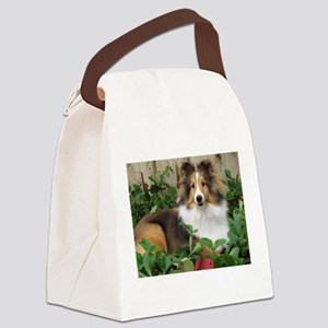 Strawberry Patch Canvas Lunch Bag