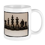 blackchesslineupsepiaframe Mug