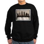 blackchesslineupsepiaframe Sweatshirt (dark)