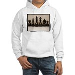 blackchesslineupsepiaframe Hooded Sweatshirt