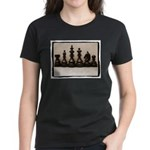 blackchesslineupsepiaframe Women's Dark T-Shir