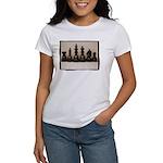 blackchesslineupsepiaframe Women's T-Shirt