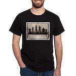 blackchesslineupsepiaframe Dark T-Shirt